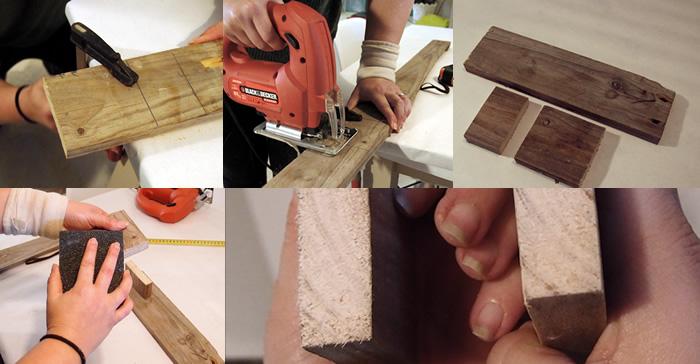 candelabro de madera estilo rústico, paso 2