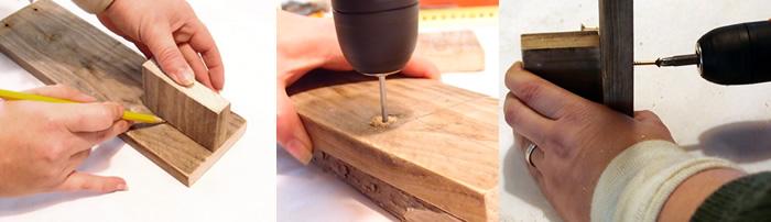 candelabro de madera estilo rústico, paso 3
