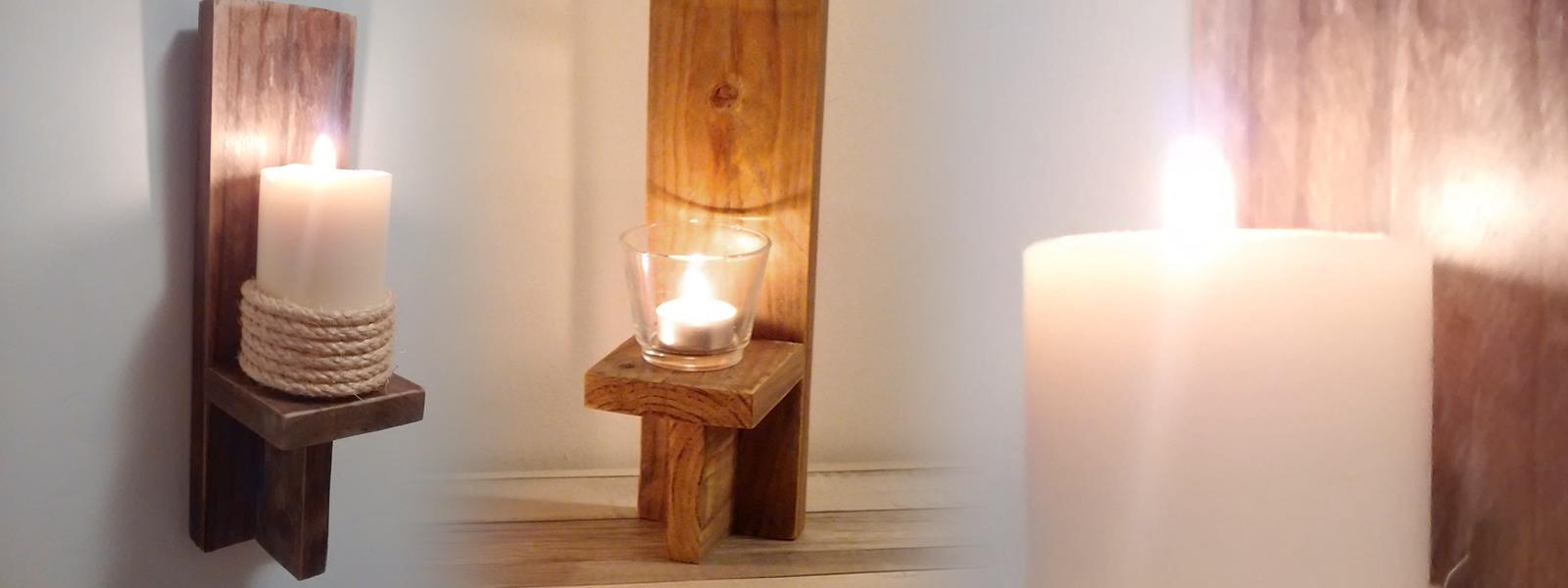 C mo hacer un candelabro de pared r stico piensa en deco - Candelabros de pared ...