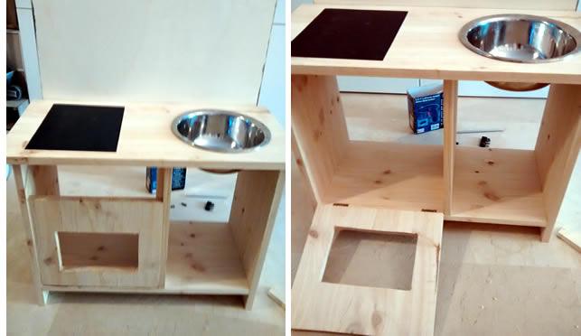 cocinita de juguete de madera
