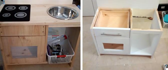 cocina de juguete de madera