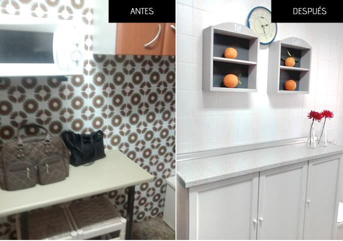 C mo renovar la cocina sin obras piensa en deco for Como pintar azulejos cocina
