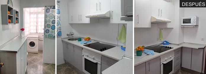 cocina decorada por poco dinero
