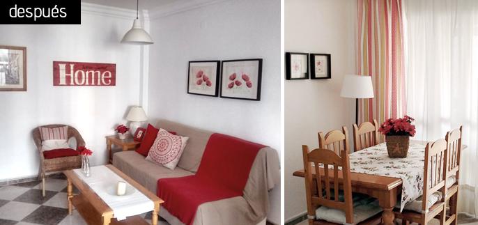 decora el salón con telas y textiles