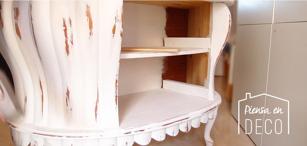 cómoda de madera pintada con chalk paint la pajarita