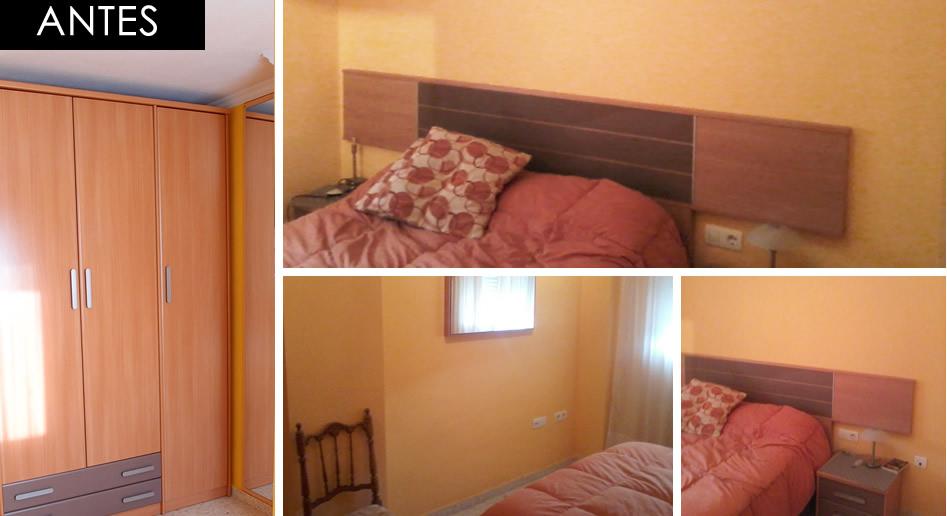dormitorio antes de redecorar