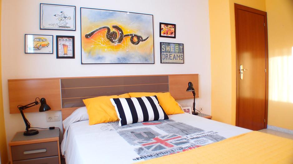 cambio de look del dormitorio después de ser redecorado