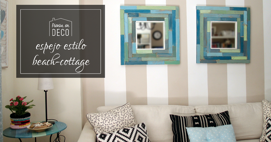 espejo estilo beach cottage diy