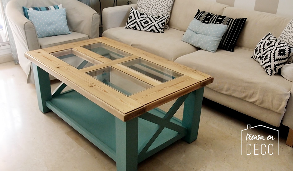 cambio de estilo de mesa rustica a mesa beach cottage