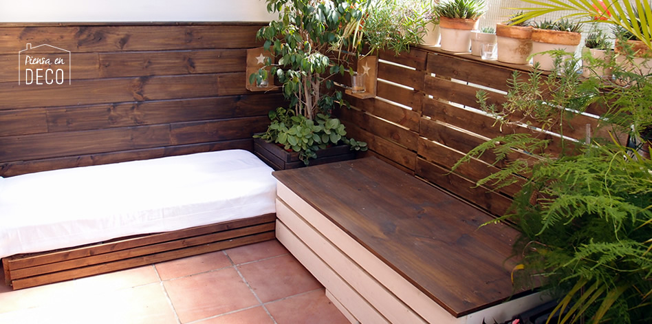 decoración low-cost en la terraza - diy