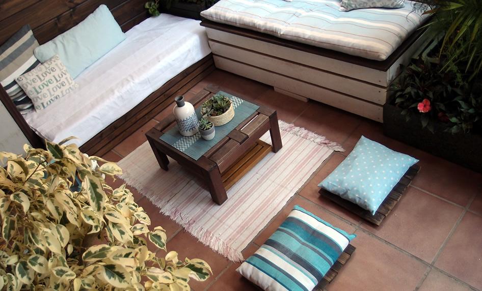 decoración de terraza low cost