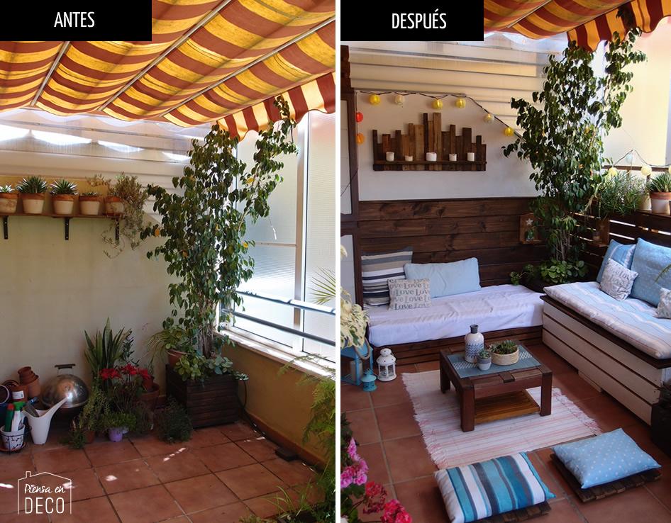 diy terraza antes y después