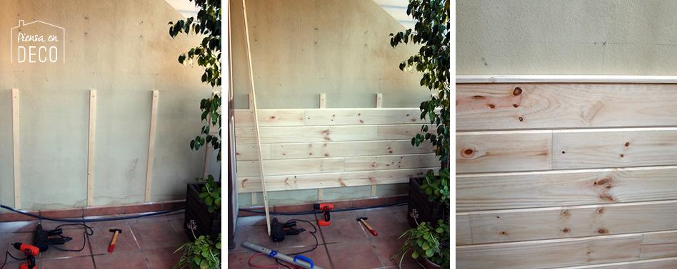 DIY: colocar friso en la pared de la terraza