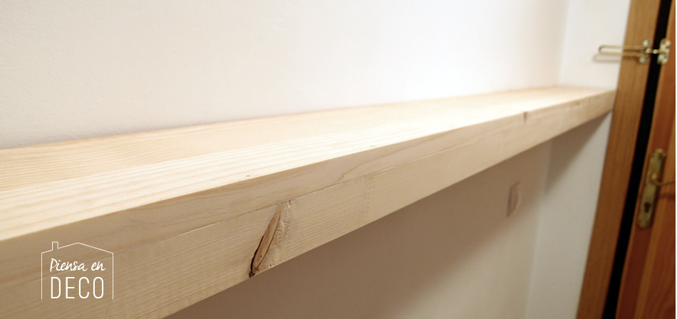 wood floating shelf diy