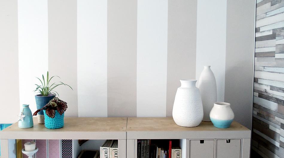 Cómo pintar rayas perfectas - Piensa en Deco