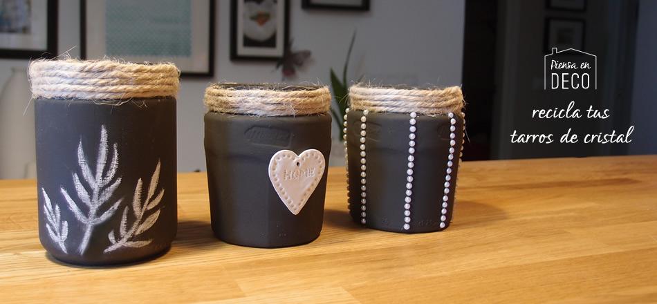 diy facil para reciclar tarros de cristal