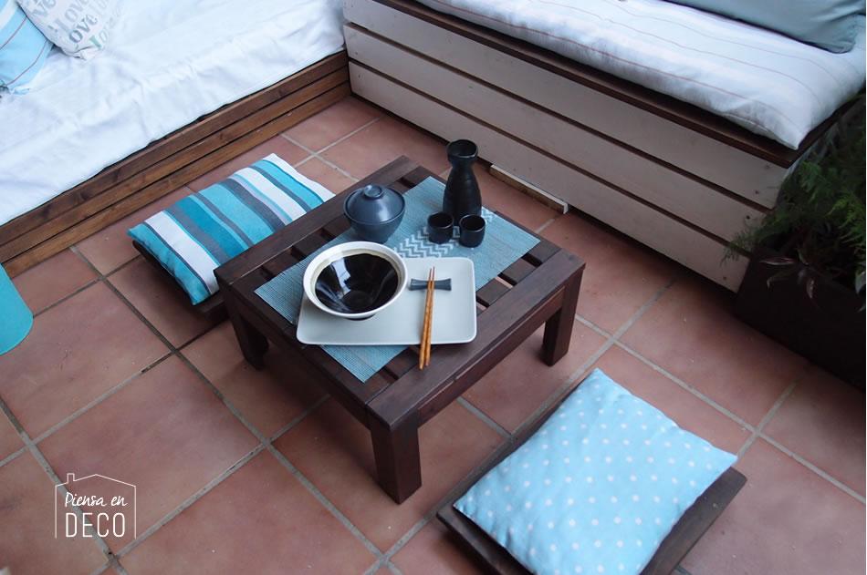 diy taburete japonés de madera