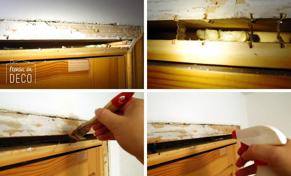 preparar puerta para usar espuma de poliuretano