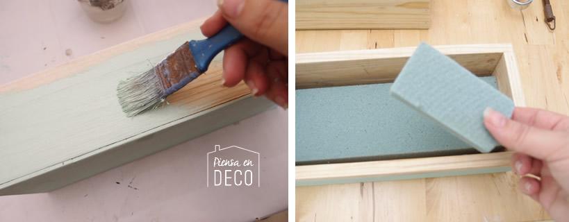 pintar caja madera