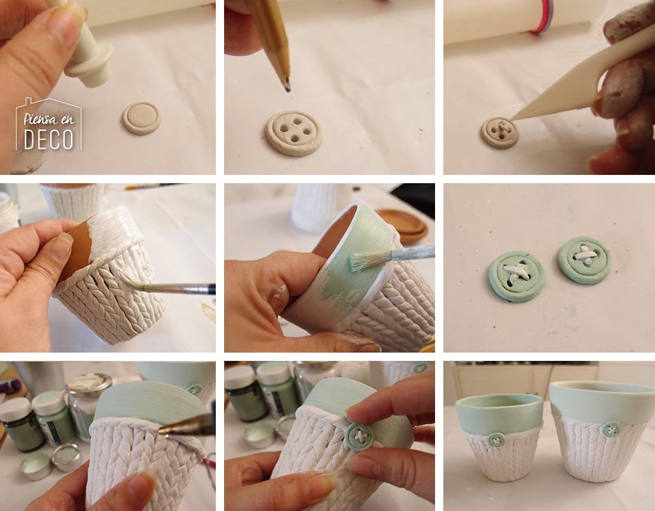 botones de pasta de papel para manualidades