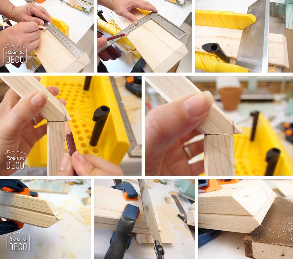 como hacer un estante colgante con forma de casa